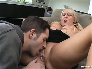 immense funbag blond mummy humped Beside Pool Table