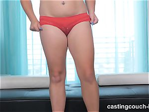 round cutie Dee arrives to the CastingCouch HD