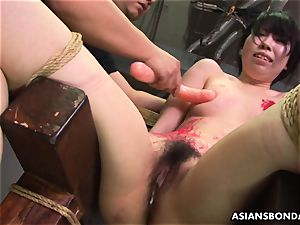 japanese breezy luvs to be bdsm handled to a paraffin wax demonstrate