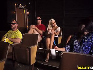 Cinema man meat deepthroating huge-boobed Bridgette B