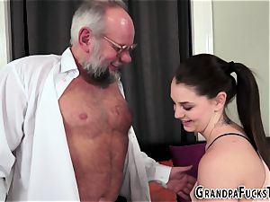 tattooed stunner rides grandfather