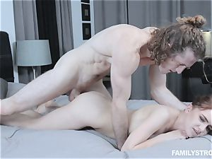 Kelsey Kage messing with her naughty step brother