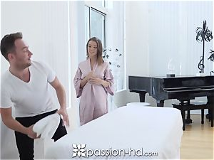 PASSION-HD running in rivulets internal ejaculation shag with Adriana Chechik