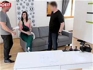 LETSDOEIT - bashful teenager Gets harsh fuck-a-thon at audition
