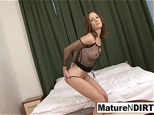 brunette cougar milks before taking a big black cock