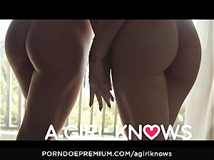 A female KNOWS - Blue eyed sweetie frigged by super-fucking-hot g/g
