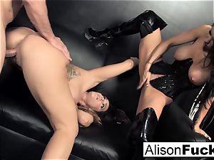 3-way xxx vigorous hump with Alison
