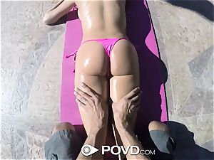 POVD Backyard badminton buttfuck tear up with Anissa Kate